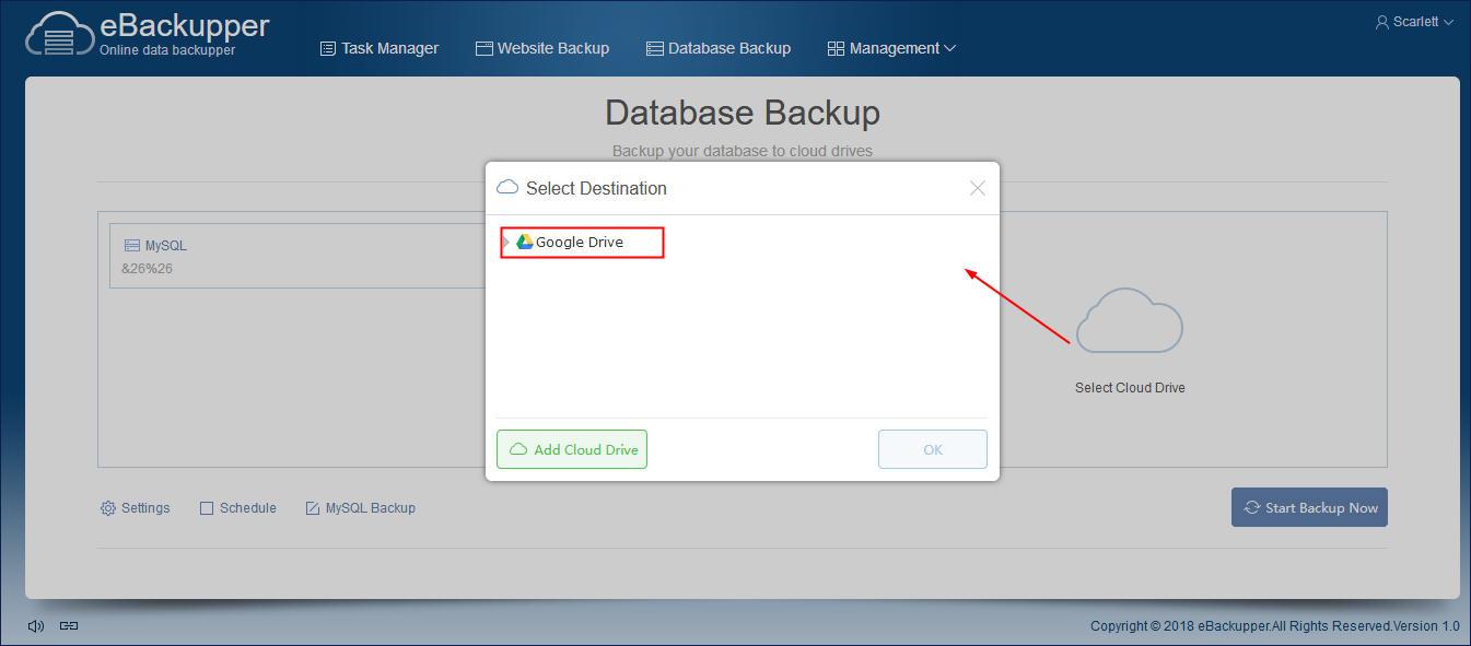 How to Backup MySQL Database to Google Drive?
