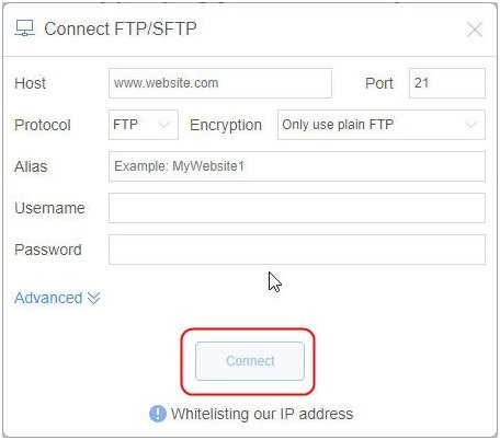 Connect FTP/SFTP